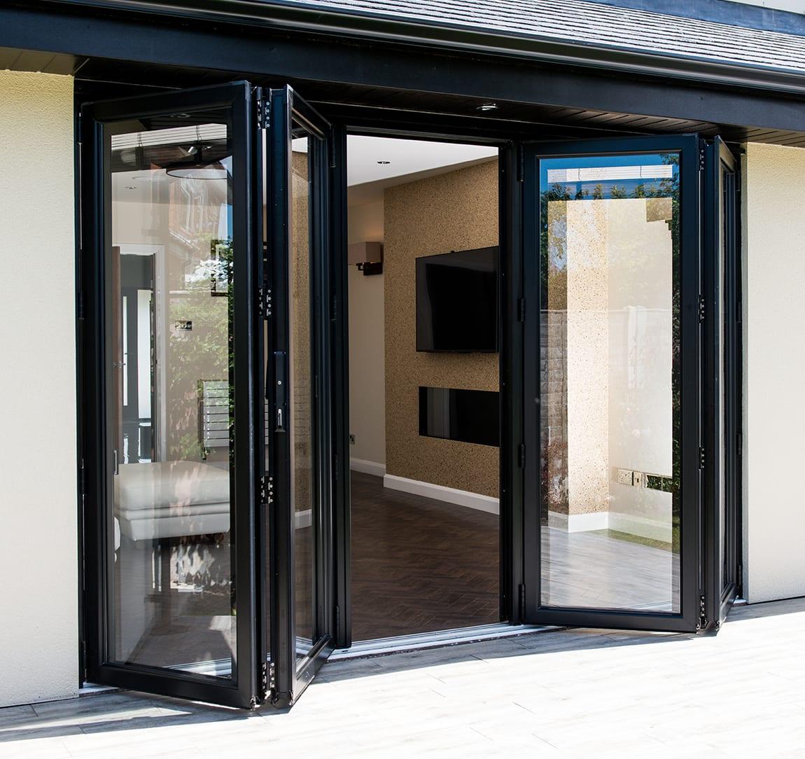 bi folding doors affordable aluminium